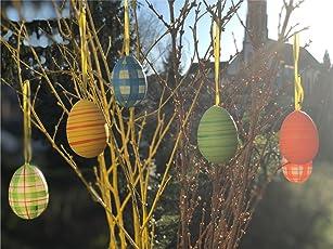 Auswahl Farbige Ostereier Pastell Farben aus Kunststoff Plastik zum Dekoration Deko an Ostern zum Aufhängen