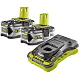 Ryobi RC18150-250 5133004422 Batteries avec chargeur (18 V, 2 batteries de 5 Ah, autonomie de 60 min, indicateur de l…