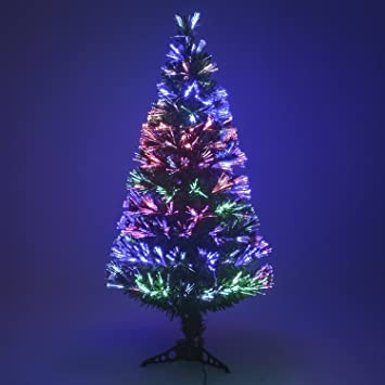 Multi Colour Fibre Optic Christmas Xmas Tree Colour Changing  - Fibre Optic Christmas Tree Uk Only
