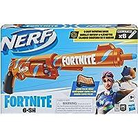 Nerf Fortnite, Blaster 6-SH avec revêtement Camo Pulse, mécanisme à percuteur, Barillet Rotatif, 6 fléchettes Nerf Elite