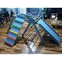 Alternativa per arrampicarsi sui mobili - Triangolo Pikler con più accessori