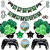 Decoraciones de cumpleaños para niños, globos de suministros para fiestas de videojuegos, globos de control de videojuegos, g
