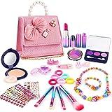 balnore kinderschminke Set Mädchen 27 Stück Kosmetik Spielzeug mit Kosmetikkoffer Makeup Set für Kinder