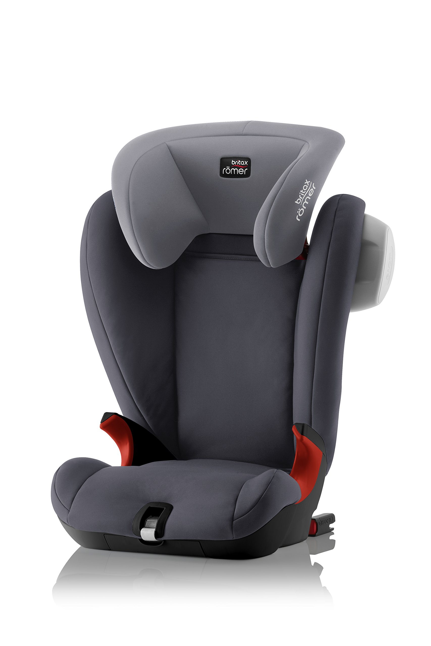 Britax Römer KIDFIX SL SICT BLACK SERIES Group 2-3 (15-36kg) Car Seat - Storm Grey Britax Römer Side impact protection - deep, softly padded side wings and sict technology, removable to use only on the side closest to the door Simple installation - soft-latch isofit system Misuse limiting design - intuitively positioned seat belt guides 1