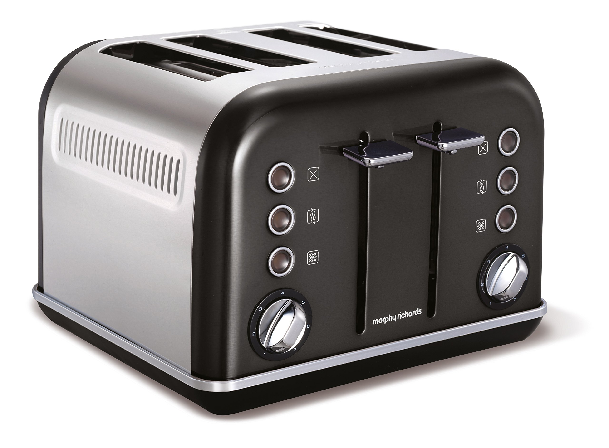 Morphy-Richards-Accents-Toaster-4-Schlitz-schwarz