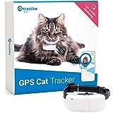 Tractive TRKAT1 IKATI, GPS-tracker Voor Katten, Onbeperkt Bereik, Activiteitenmonitor, Waterdicht, Wit, 7.2 x 2.9 x 1.6 cm