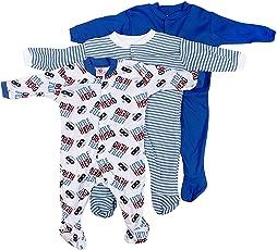 BornBabyKids Multi Color Romper Body Suite for New Born baby Pack Of 3