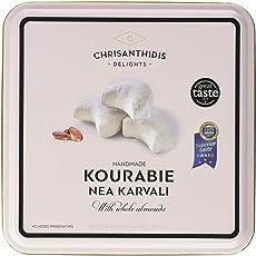 Chrisanthidis S.A. Kourabie Buttergebäck mit Mandeln in Metall Box, 1er Pack (1 x 450 g)