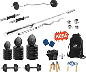 Protoner 30kg Rubber Home Gym Package with 4 Rods