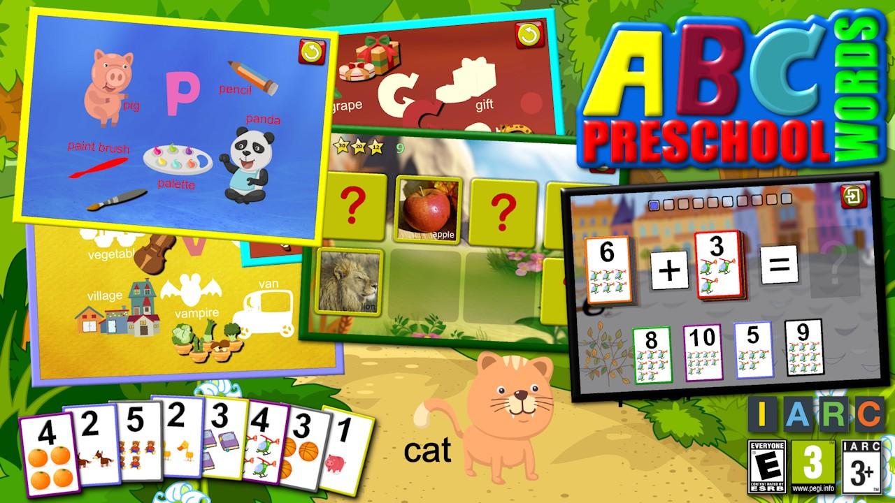 Abc scuola materna vista parola jigsaw puzzle forme for Scuola materna francese