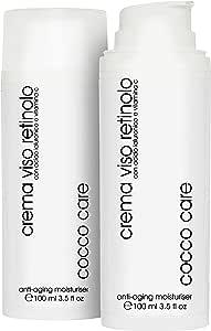 100ml - BIO Crema Viso Retinolo con Acido Ialuronico Puro 100% e Vitamina C - Contorno Occhi - Trattamento Antietà - Idratante e Illuminante per il Viso - Crema Antirughe Uomo e Donna