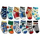 OKPOW 12 Paar Baby Kleinkinder Kleinkind Socken Hell Zufällige Farbige Socken Anti-skid Baumwolle Socken Geschenk