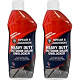 Spear and Jackson 2 x 500ml Heavy Duty Sink and Drain Unblocker