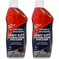 Spear and Jackson 2 x 500ml Heavy Duty Sink and Drain Unblocker