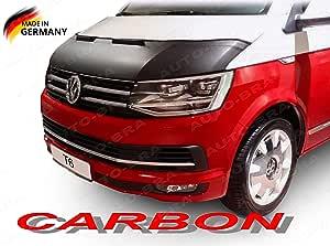 Ab 00644 Auto Bra Carbon Optik Kompatibel Mit Vw Volkswagen T6 Bj Ab 2015 Multivan Transporter Caravelle Haubenbra Bonnet Bra Steinschlagschutz Spielzeug