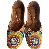 Beautiful Multi Color Stoned Punjabi Jutti for Women - Handcraft Amazing Leather Jutti