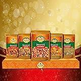 Dhampure Speciality Baisakhi Gifting Snacks Candy Gift Box - Gur Chana, Gur Saunf, Gur Sev Besan, Gur Shakkar Pare, Palm Cand