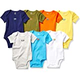 Amazon Essentials 7-Pack Short-Sleeve Bodysuits Unisex bebé, Pack de 7