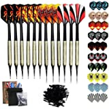 Sinwind Freccette Professionali Punta Plastica, Set di 12 Freccette Morbide per Bersaglio Elettronico con 42 Freccette…