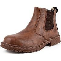 CHNHIRA Chaussures De Sécurité Hommes Bottes De Sécurité en Cuir Travail Antidérapante Embout Acier Semelle Anti…