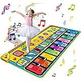 Ballery Tappeto Musicale Bambini, 148 x 60cm Grande Tastiera Pianoforte Musichette Giocattolo Tappetino da Ballo per Pianofor