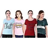 NIVIK Women's T-Shirt (Pack of 4)