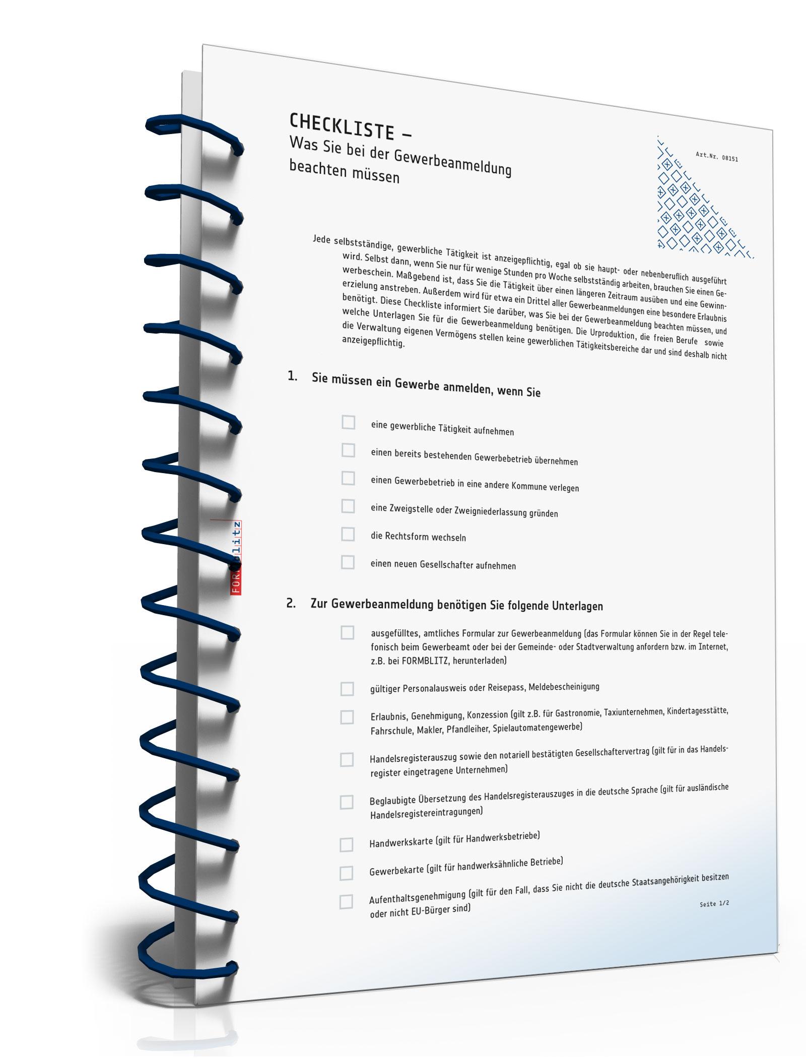 Was Sie bei der Gewerbeanmeldung beachten müssen [PDF Download]