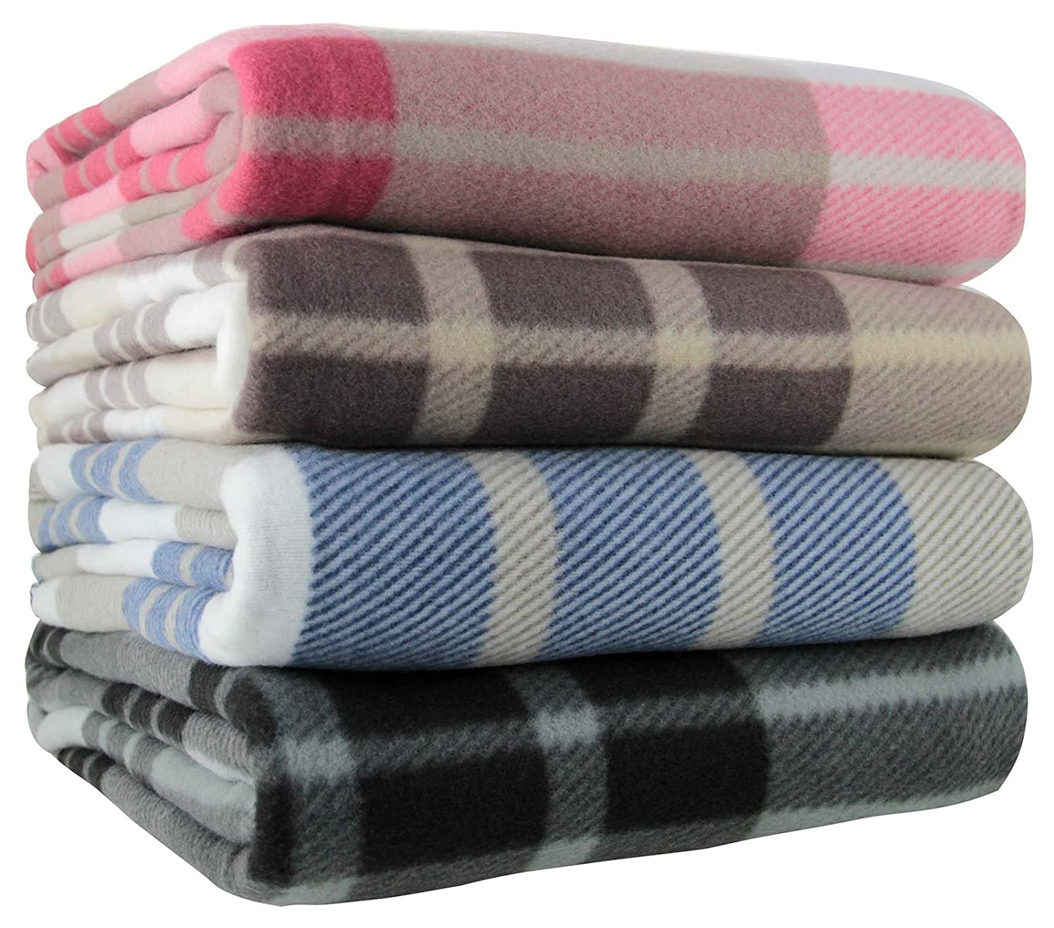 ideal textiles tartan check polar fleece throw blanket suitable for chair or bed machine washable 125cm x 150cm natural amazoncouk kitchen u0026 home