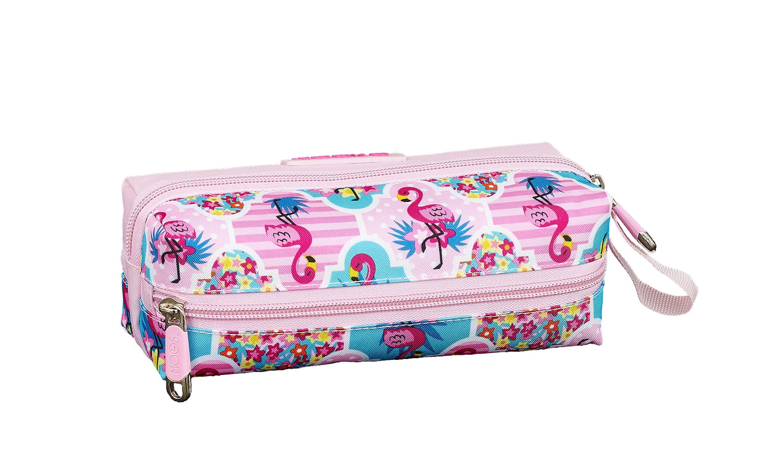 Moos  Flamingo Pink Oficial Estuche Escolar 200x80x70mm