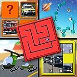 Kinder-Autos und LKW-Logik und Memory Rätsel - lehrt junge Kinder die Buchstaben des Alphabets zählen und Jigsaw Formen für Vorschule Kindergarten und up