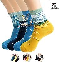 Womens Best Socks Gift Set-Cute Animals Art Cartoon Character Funny Novelty Crew