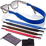 Sunglasses Glasses Strap - 4 Pack Eyeglass Eyewear Retainer Strap with Bonus Items…