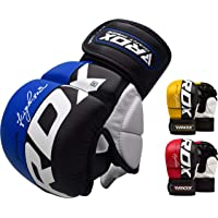RDX Gants MMA pour Art Martiaux D'entraînement | Approuvé par SMMAF| Maya Hide Cuir Kickboxing Gant | Parfaite pour…