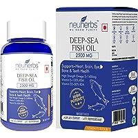 Neuherbs Deep Sea Omega 3 Fish Oil 2500 Mg (Omega 3 1486 mg; 892 mg EPA; and 594 mg DHA per serving): 60 Soft Gel