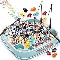 Dreamon Peche a La Ligne pour Enfant Ensemble Pêche Musique Multicolore Poisson Jouets Jeux de Société Éducatif Cadeau…
