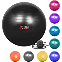 Xn8 Exercise Gym Ball 55-85cm Extra Thick Swiss Ball with Quick Pump Birthing Ball for Yoga-Pilates-Fitness-Physical…