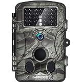 """Earthtree Wildkamera Fotofalle Full HD 1080P 12M Jagdkamera mit 120°Weitwinkel Objektiv Fotofalle, 42 Low Glow Infrarot Leds, 20m Nachtsicht, 2.4"""" LCD Display, Wasserdichte"""