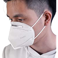 Cozylife Face Mask KN95 (Pack of 4) with Nose Clip for Men, Women, Adults. 5 Layer Filter Protection for Nose, Mouth