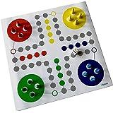 Spieltz 51811: Ludo reisspel / reis-Ludo - rolbaar spel, speelplan op vrachtwagenzeil, afwasbaar en robuust
