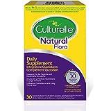 Culturelle Natural Flora Supplemento Probiotici Quotidiano - 30 capsule - 10 miliardi di colture batteriche + prebiotico - vive Lactobacillus rhamnosus GG - fornitura di 30 giorni