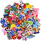 30,50,100pcs Random Different Cute Cartoon Shoe Charms for Shoe Decoration & Wristband Bracelet, Sport Party Gifts for Kid Bo