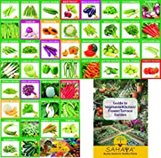 KRIWIN Sahaya 46 Varieties Of Quality Organic/Hybrid Fruits and Vegetables Seed for Kitchen/Terrace/Poly House Garden with Instruction Booklet