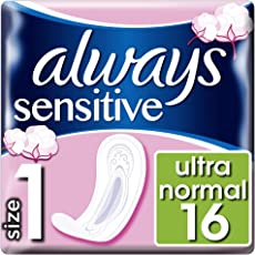 Always Ultra Sensitive Normal Binden, Größe: 1, 8er Pack (8 x 16 Stück)