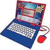 LEXIBOOK Spider-Man-Ordenador portátil Educativo y bilingüe español/inglés-Juguete para niños con 124 Actividades para Aprend