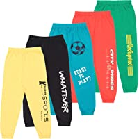 KYDA KIDS Boys' & Girls' Regular Fit Trackpants (Pack of 5)