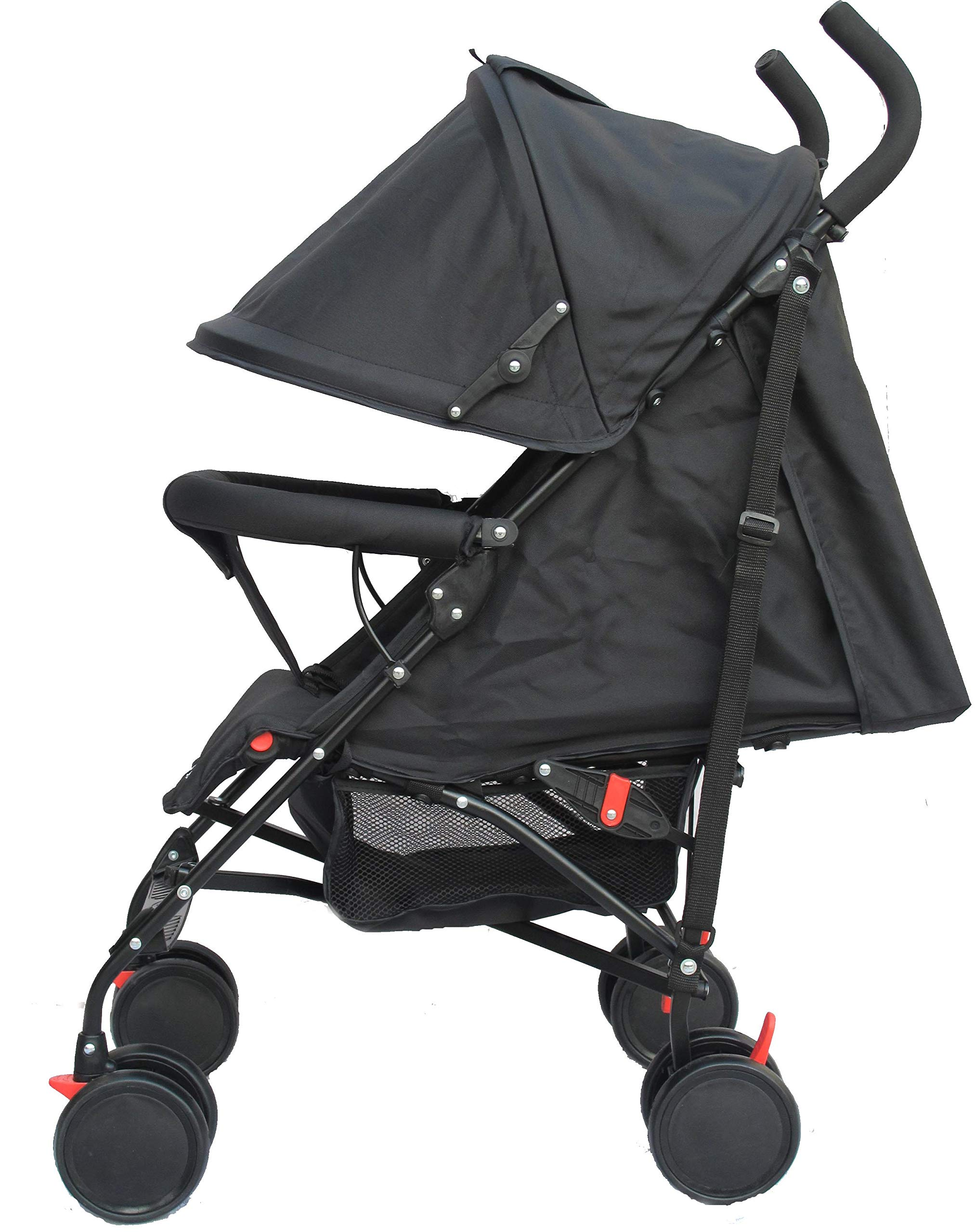 Stroller for Kids Lightweight Buggy Easy Fold Travel Stroller Buggy Foldable for Airplane Travel Cabin Size(Black) Little Bambino ✨Extendable upf 50+ sun canopy and built-in sun visor ✨EASY USAGE - One-hand foldable buggy makes taking your baby for travels or walks a simple pleasure. It could stand on its own so you could take care of your baby with less things to worry about. ✨ADJUSTABLE BACKREST - Travel stroller backrest can be adjusted. Suitable for children from 0 to 36 months 3
