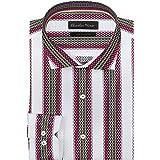 Charles Dino White 100% Cotton Men's Wear Striped Formal Cotton Shirt