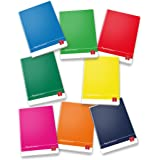 Pigna Colours 022988610, Quaderno formato A4, Rigatura 10, quadretti 1 cm per 1° elementare, Carta 80g/mq, Pacco da 10 Pezzi