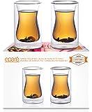 Eparé 175 ml Isoliertes Teeglas (2er Set) - Doppelwandige Trinkgläser Thermobecher für türkisches Kaffeekanne Wasser Bier oder Saft - Teekanne Infuser Glaswaren Zubehör – Bleifrei