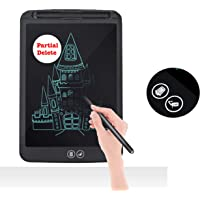 Proffisy E Pad LCD Writing Tablet with Selective Erasure Function 8.5 Inch Electronic Writing Board Doodle and Scribble Board Magnetic Notes for Kids Adults with 2 Magnet (Partial Delete - Black)